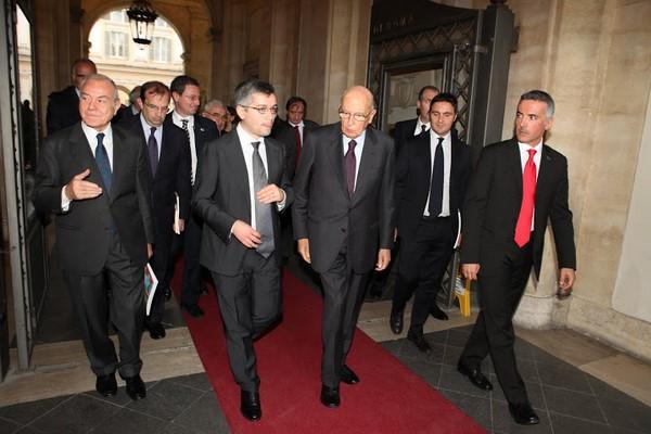 """Visita del Presidente Napolitano alla mostra """"Maurizio Valenzi. Arte e politica"""" Roma Novembre 2012"""