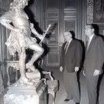 con Jacques Chirac alla Mostra Civiltà del Settecento 1980