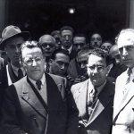 Da sinistra con Giorgio Amendola, Palmiro Togliatti e Emilio Sereni